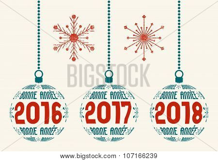 French New Year graphic design elements 2016 - 2018