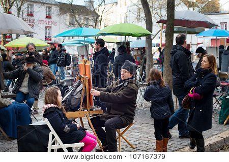 Montmartre Scene, Paris