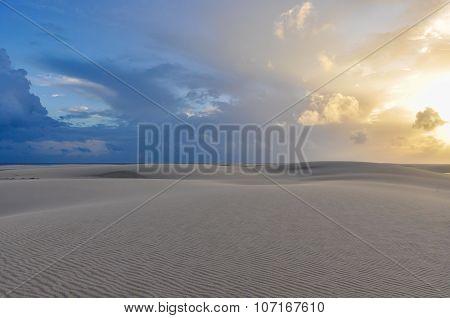 Sunrise In Lencois Maranheses, Brazil
