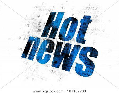 News concept: Hot News on Digital background