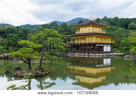 Golden Pavilion Kinkakuji Temple in Kyoto Japan