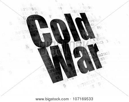 Political concept: Cold War on Digital background