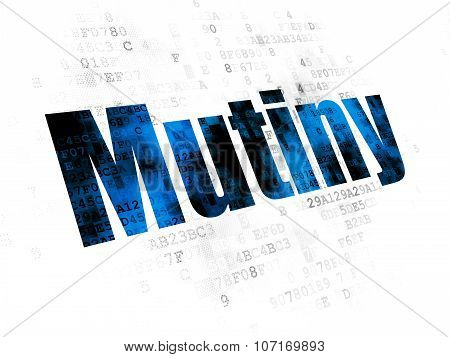 Politics concept: Mutiny on Digital background