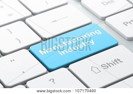 Industry concept: Manufacturing Industry on computer keyboard background