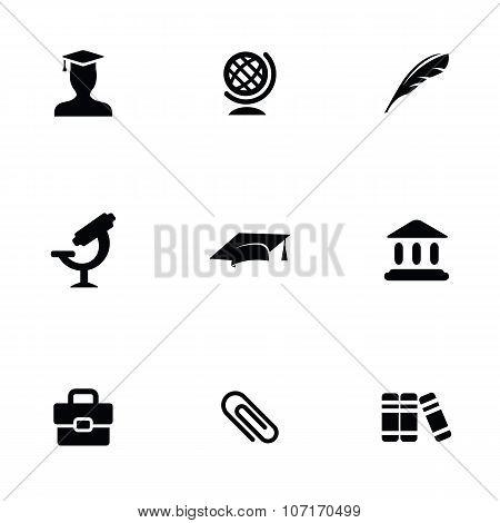 Education 9 Icons Set