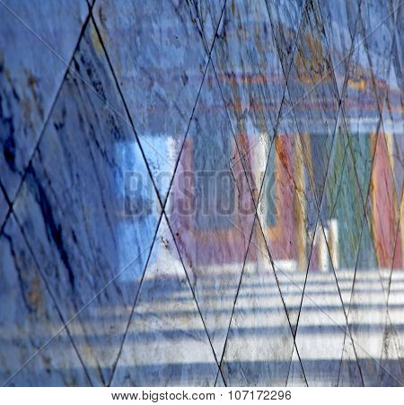Abstract  Reflex In          Pavement Cross Stone Step