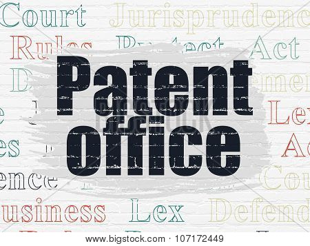 Law concept: Patent Office on wall background
