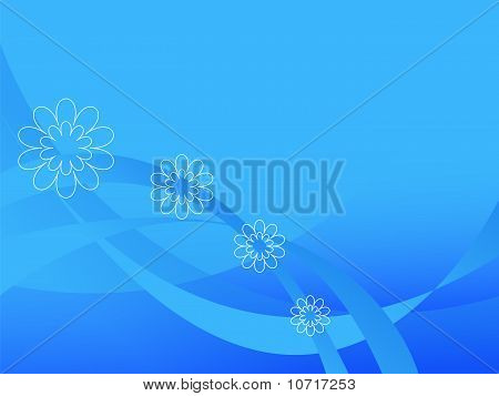 The Blue Abstract Background.