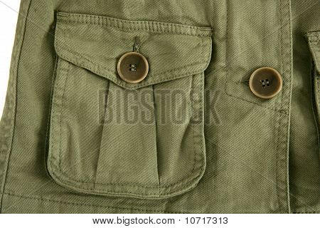 Green Jacket Pocket Militar Inspired Fashion Detail