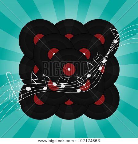 Abstract music vinyl background illustration