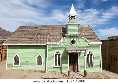 Old Church In American Town