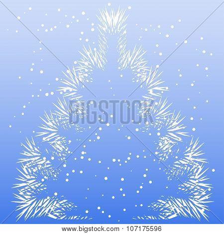 Christmas Tree Frost Pattern