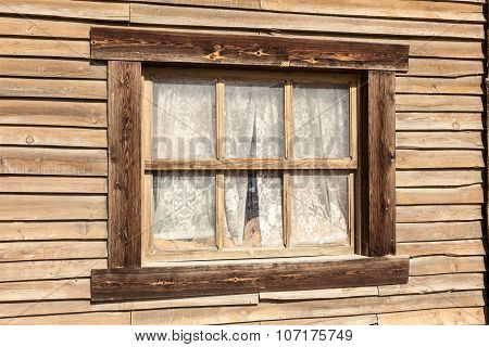 Window Of An Old Wooden House
