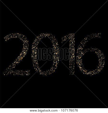 Golden Glitter Texture For The Year 2016.