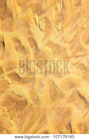 Brown Dry Sand In Sahara Desert Morocco Africa Erosion