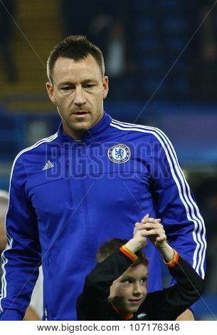LONDON, ENGLAND - NOVEMBER 04 2015:  during the UEFA Champions League match between Chelsea and Dynamo Kyiv at Stamford Bridge on November 04, 2015 in London, United Kingdom.