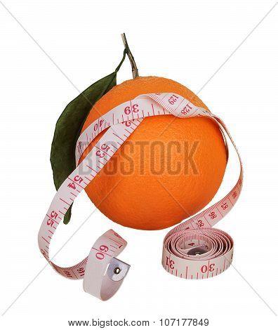 Orange With Measuring Tape