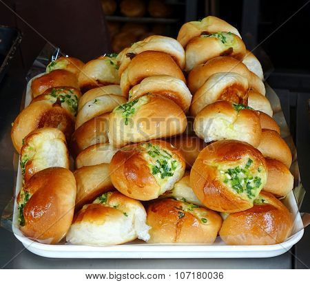 Freshly Bakes Buns With Chives