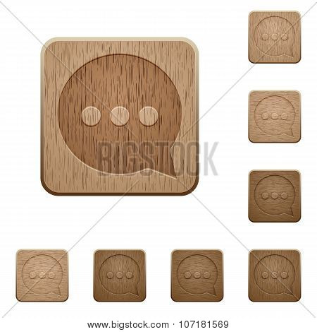 Working Chat Wooden Buttons