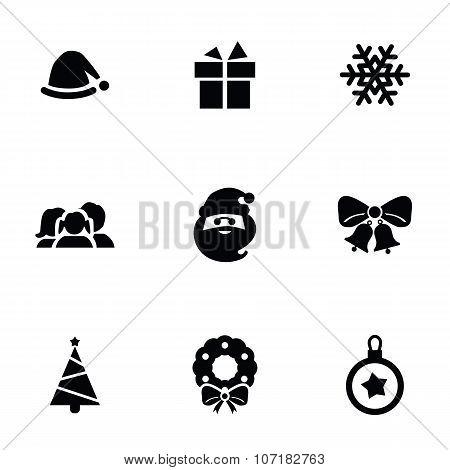 New Year Icons 9 Icons Set