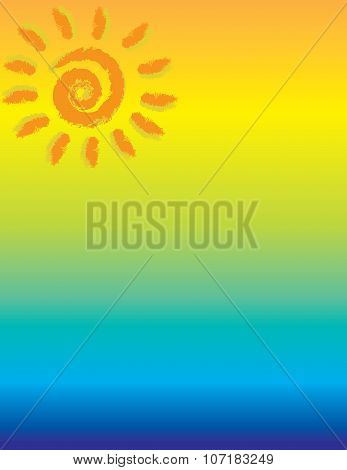 Tropical Sun Background