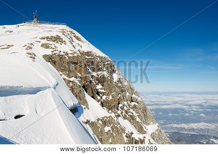 View to the summit of the Pilatus mountain in Luzern, Switzerland.