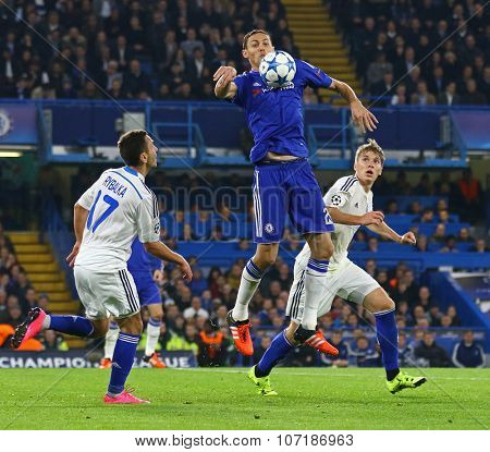 LONDON, ENGLAND - NOVEMBER 04 2015: Nemanja Matic of Chelsea during the UEFA Champions League match between Chelsea and Dynamo Kyiv at Stamford Bridge on November 04, 2015 in London, United Kingdom.