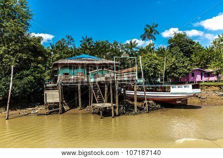Community on Marajo Bay in Belem do Para, Brazil