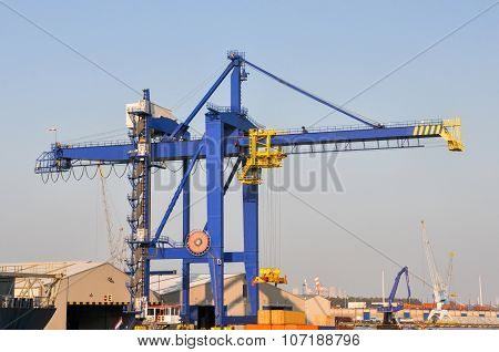 Sea Cargo Port Large Cranes