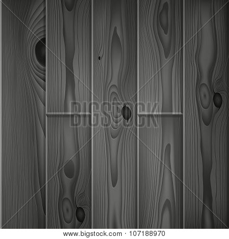 Realistic dark grey wood boards texture
