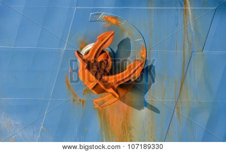 Large Anchor On Board  Ship