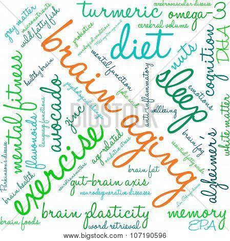 Brain Aging Word Cloud