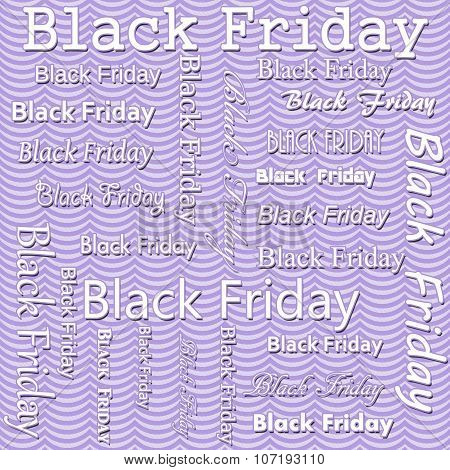 Black Friday Design With Purple Wavy Stripes Tile Pattern Repeat Background