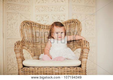 Portrait Cute Little Girl