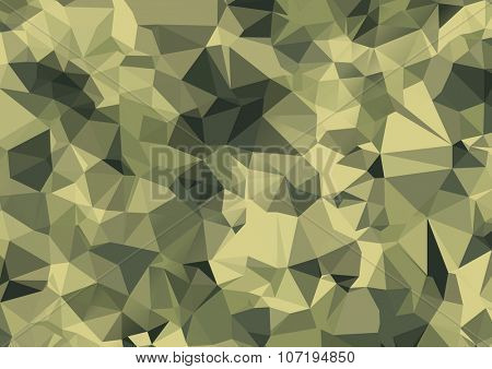Camouflage polygonal background. Brochure poster templates in veterans day style. raster design and layout