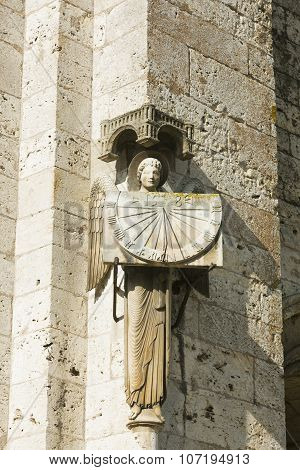 Sundial In The Cathedral Of Chartres, Eure-et-loir, Centre-val De Loire, France