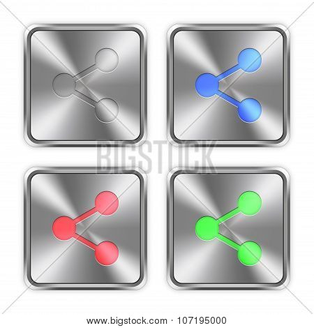 Color Share Steel Buttons