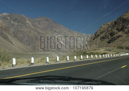 The Andes Mountains From The Car