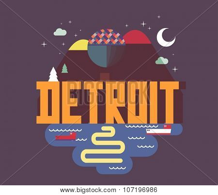 Detroit city in Michigan