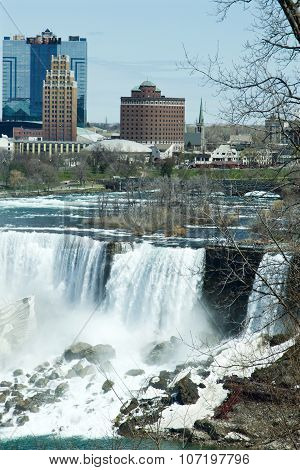 Beautiful View Of The American Part Of The Niagara Falls