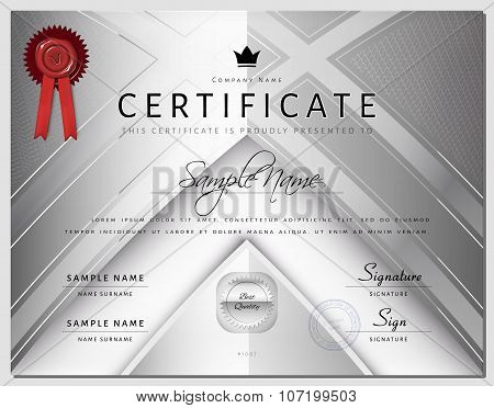 Luxury Certificate Border Template with Elements in Vector