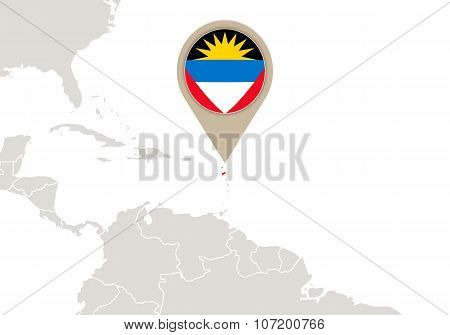 Antigua And Barbuda On World Map