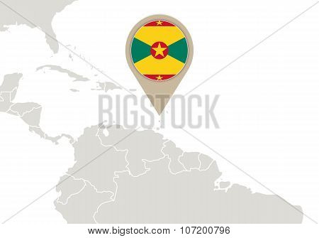 Grenada On World Map