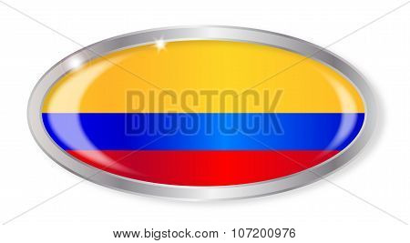 Colombia Flag Oval Button