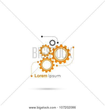 Gears symbol vector
