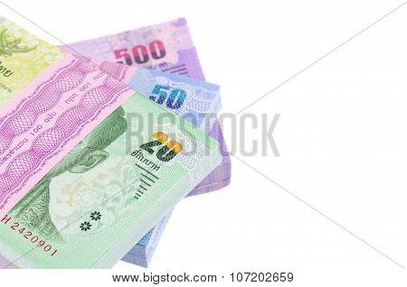 Thai Baht Money Isolated White Background