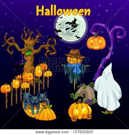 Meeting of the spirits on Halloween