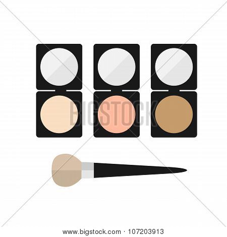 makeup mineral powder flat icon