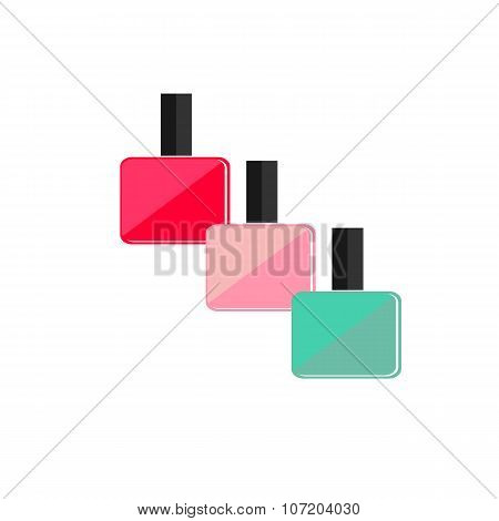 colored nail Polish flat icon