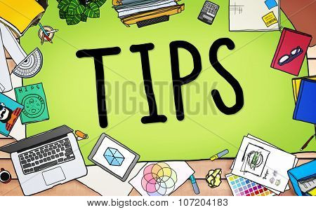 Tips Service Change Server Waiter Waitress Concept